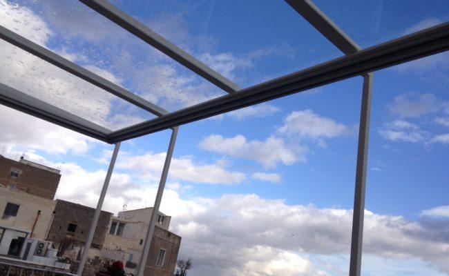 copertura in ferro e vetro