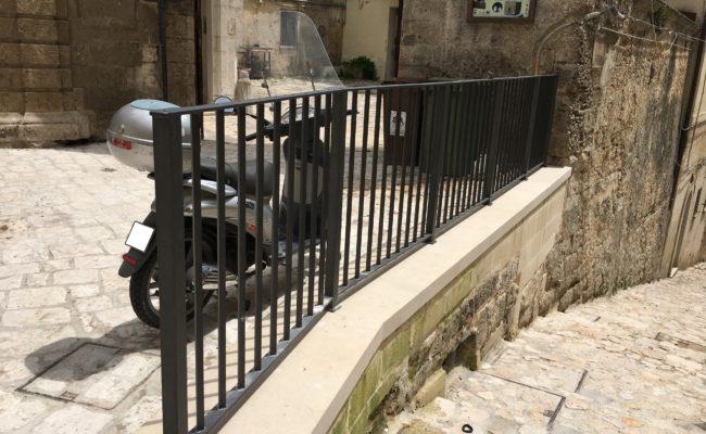 Ringhiera per centro storico a Matera