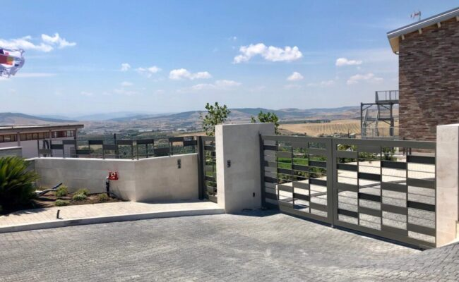 Cancello Riquadri in Lamiera